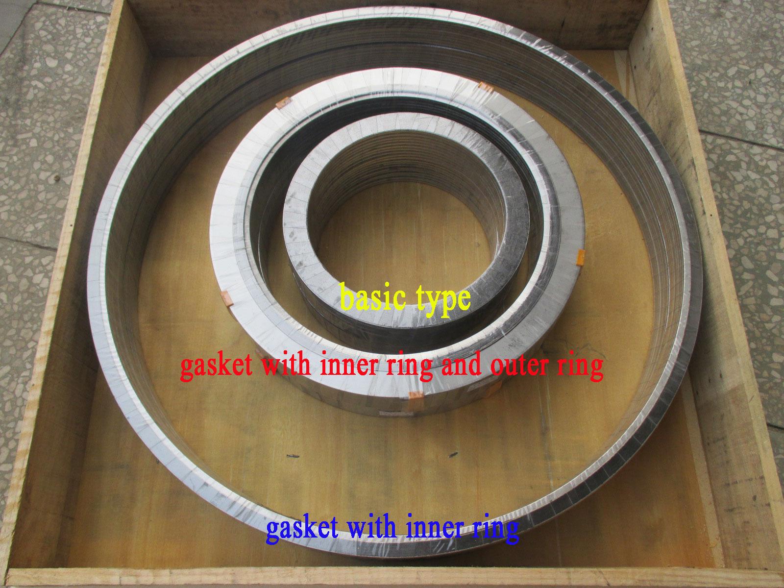 Metal spiral wound gasket types:A,B,C,D,E,F